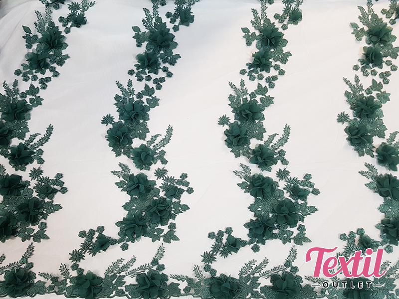 Dantela 3D verde 02